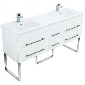 Emotion - Mobile bagno a terra Roma XL bianco lucido