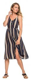 ROXY Sukienka damska Sun Dress Beauty Dress Blue Macy Stripe ERJWD03313-BTK4 (rozmiar L)