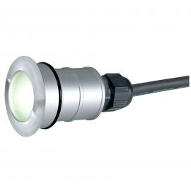 Led-grondspot TRAIL-LITE ROUND, warm wit