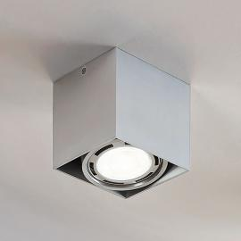 LED downlight Rosalie, 1-lamp, hoekig, alu