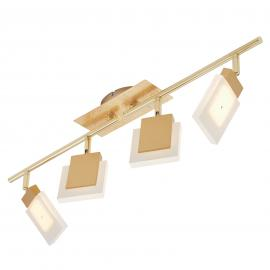 LED-Deckenstrahler Glam in Gold, 4-flammig