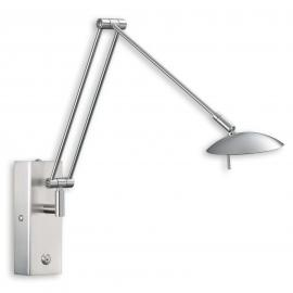 Flexible LED Wandleuchte LINK nickel matt