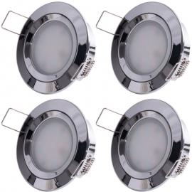 6er Set LED Einbaustrahler, ALU, D 7,8 cm, COIN SLIM - ETC-SHOP