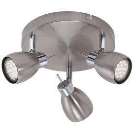 LED Deckenleuchte 3er Spot Briloner Two 2736-032R Spotstrahler Nickel