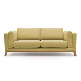 Żółta sofa 2-osobowa Bobochic Paris Enjoy