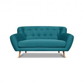 Turkusowa sofa 2-osobowa Cosmopolitan design London