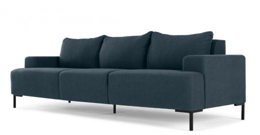 MADE Essentials Oskar 3-Sitzer Sofa, Aegaeisblau - MADE.com