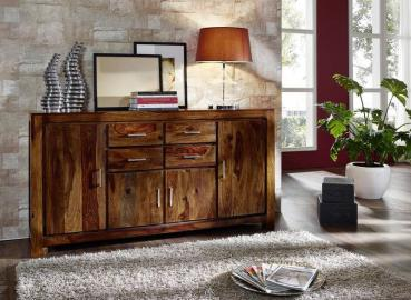 Sideboard Sheesham 178x45x95 life honey lackiert METRO LIFE #123