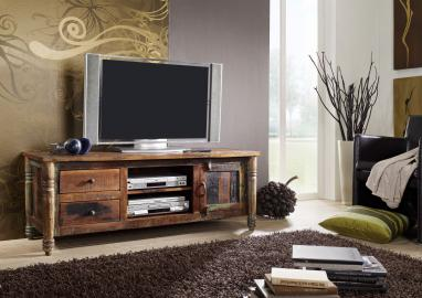 TV-Board Altholz 145x50x55 mehrfarbig lackiert FABLE #10