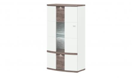 uno Highboard   Gabbro ¦ weiß ¦ Maße (cm): B: 75 H: 142 T: 42 Kommoden & Sideboards > Highboards - Höffner