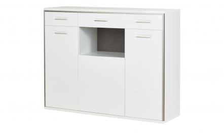 uno Highboard   Setto ¦ weiß ¦ Maße (cm): B: 154 H: 121 T: 45 Kommoden & Sideboards > Highboards - Höffner