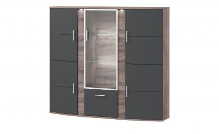 uno Highboard  Onyx ¦ Maße (cm): B: 164 H: 147 T: 41 Kommoden & Sideboards > Highboards - Höffner
