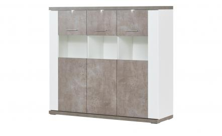 uno Highboard  Bolen ¦ weiß ¦ Maße (cm): B: 146 H: 131 T: 42 Kommoden & Sideboards > Highboards - Höffner