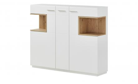 uno Highboard  Melin ¦ weiß ¦ Maße (cm): B: 150 H: 122 T: 37 Kommoden & Sideboards > Highboards - Höffner