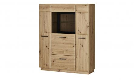 uno Highboard  Montea ¦ holzfarben ¦ Maße (cm): B: 124 H: 153 T: 39 Kommoden & Sideboards > Highboards - Höffner