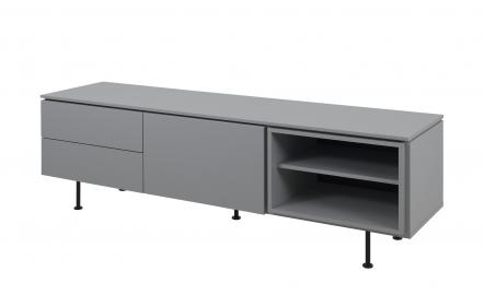 TV-Lowboard  Uuna ¦ grau ¦ Maße (cm): B: 180 H: 57 T: 45 TV- & Media Möbel > TV-Racks - Höffner