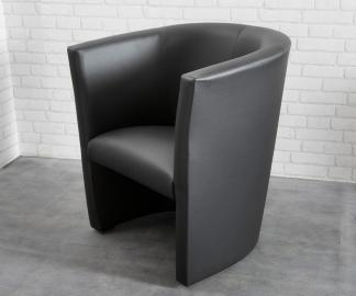 DELIFE Cocktailsessel Goya Schwarz Design Sessel Lounge Sessel, Cocktailsessel