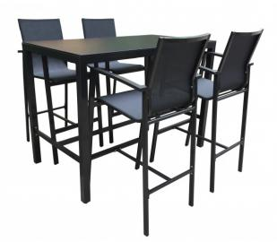 TrendLine Bar Set Kreta 1 Tisch, 4 Sessel