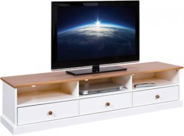 TV-Board Country 180x41x45 cm braun/weiß
