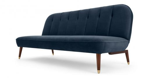 Margot Klappsofa, Samt in Saphirblau - MADE.com
