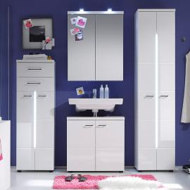 home24 Badezimmer-Set Storm Light (4-teilig)