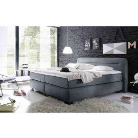 Black Red White - Boxspringbett Doppelbett Polsterbett MAINE 2 180x200 cm grau anthrazit Version 2-'SW14865'