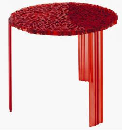T-Table Alto Couchtisch - Kartell - Rot transparent