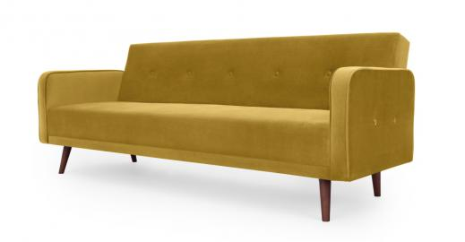 Chou Schlafsofa, Samt in Antikgold - MADE.com
