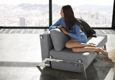 INNOVATION™ Schlafsofa Cubed140 Chrom 565