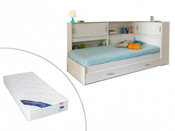 PARISOT Set Kinderbett mit Regal SNOOP + Matratze - 90x190cm