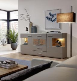 Sideboard inkl. LED-Beleuchtung Fun Plus II von Innostyle Basalt / Hirnholz