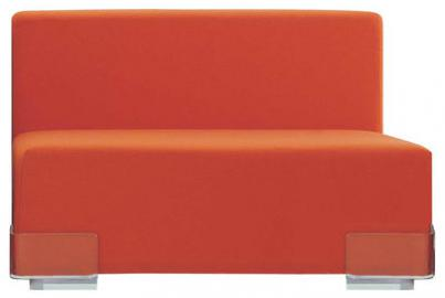 Plastics Sofa modulable ohne Armlehne - Kartell - Orange