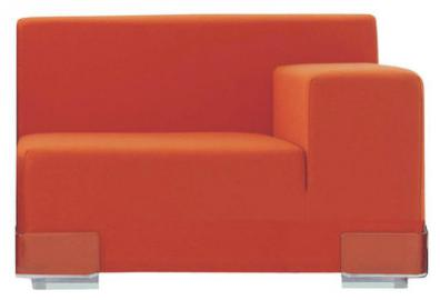 Plastics Sofa modulierbar Armlehne links - Kartell - Orange
