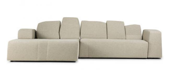 Something Like This Sofa modulierbar 2 Module / 3-Sitzer - L 307 cm - Moooi - Beige meliert