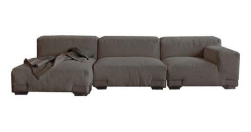 Plastics Duo Sofa Komposition Nr. 4 - Kartell - Grau